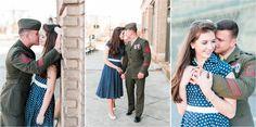 David&Callie Vintage Marine Corps Engagement