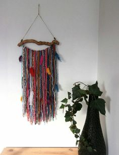 Check out this item in my Etsy shop https://www.etsy.com/uk/listing/270192152/yarn-wall-hanging-bohemian-decor-boho