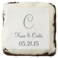Wedding Bold Colorful Square Brownie