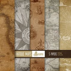 Antique Maps. Vintage papers by OctopusArtis