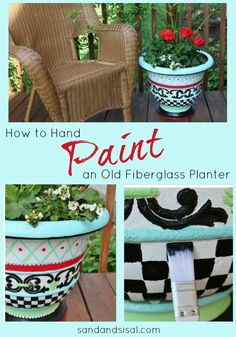 How to Hand Paint an Old Fiberglass Planter