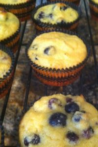 Coconut Flour Blueberry Muffins. Sub sea salt. #breakfast #muffins