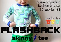 Made By Rae Flashback Skinny Tee - Downloadable Pattern [1PA-Download-MBR-FST] - $10.00 : Pink Chalk Fabrics is your online source for modern quilting cottons and sewing patterns., Cloth, Pattern + Tool for Modern Sewists