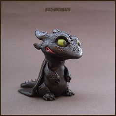 NightFury Toothless | Dragon Collection | Polymer Clay | BUZHANDMADE