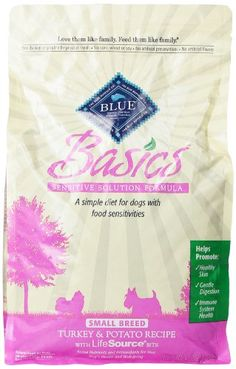 Blue Buffalo Small Breed Basics Limited Ingredient Formula Turkey and Potato Adult Dry Dog Food, 4-Pound $17.99 (save $3.70)