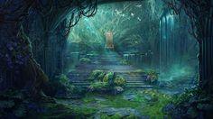 castle fantasy hall forest deviantart landscape medieval anime rpg backgrounds artwork