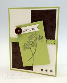 Reason to Smile stamp set.  Designed by Mary Fish, Independent Stampin' Up! Demonstrator. Details, supply list and more card ideas on http://stampinpretty.com/2012/07/mojo-monday-249-another-reason-to-smile.html