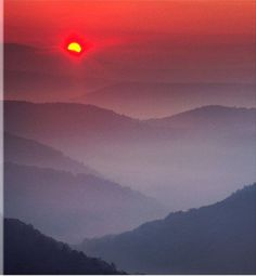 Highlands sunrise tile by Frank Ceravalo. Taken along the Highlands Scenic Highway near Marlinton, West Virginia. Foreground Middleground Background, Hiking Places, Mountain States, Take Me Home, Road Trip Usa, Beautiful Places, Beautiful Scenery, Simply Beautiful, West Virginia