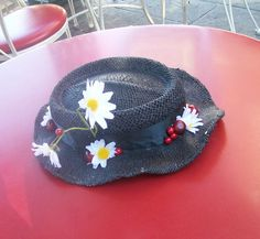 Your place to buy and sell all things handmade Costume Hats, Dress Up Costumes, Costume Ideas, Halloween Crafts, Halloween Costumes, Halloween Ideas, Mary Poppins Halloween Costume, Mary Poppins Hat, Boater