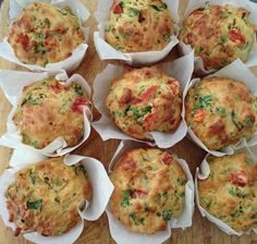 Feta and spinach muffins