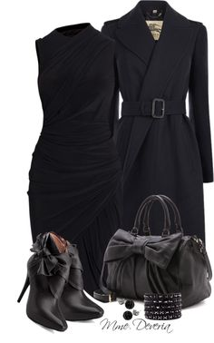 """Just black #2"" by madamedeveria ❤ liked on Polyvore"