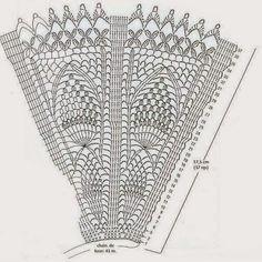 PATRONES GRATIS DE CROCHET: Patrón abanico motivo piña a crochet