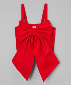 Look what I found on #zulily! Red Bow Tank - Infant, Toddler & Girls by Little Miss Fashion #zulilyfinds