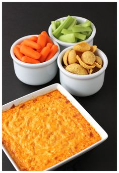 Buffalo Chicken Dip, really tasty. I prefer to use fresh chicken breast as opposed to the can chicken.