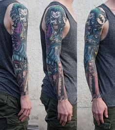 95 awesome examples of full sleeve tattoo ideas tattoos pint Medusa Tattoo, Pfau Tattoo, Cover Tattoo, Hulk Tattoo, Tattoo Flash, Tribal Tattoos For Men, Cool Tattoos For Guys, Geometric Tattoos, Tatoo