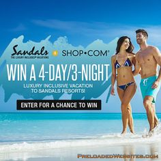 Looking for the perfect getaway? Enter Sandal's 'Take me to the Tropics' Sweepstakes  From now through August 27th, you could win the trip of a lifetime!  Enter here: https://www.shop.com/net2malls/280-sweepstakes.xhtml?credituser=C9960214