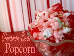 Cinnamon Bear Popcorn - could be Aleksei friendly substituting for the butter and if the candy was made in a plant that didn't make nuts.