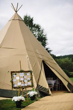 teepee reception!