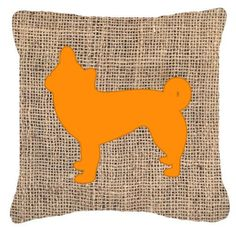 Chihuahua Burlap Indoor/Outdoor Throw Pillow