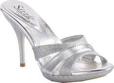The Orlando is a stylish bridal sandal with a platform sole, high heel and glitter embellished straps on the vamp.