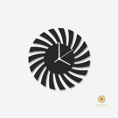 Amazon.com - Black Modern Wall Clock, Modern, Laser Cut, Wall, Art, Decor, Clock -