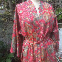 Liberty print Tana lawn kimono robe/dressing gown by MerryMerryBeau on Etsy
