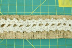 How to make a burlap and crochet napkin ring