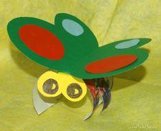 Creare coccinelle, farfalline e ragnetti di cartone