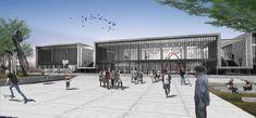 Imagem 2 de 27 da galeria de Segundo Lugar no Concurso Nacional de Anteprojetos para o Centro Cultural da Assembleia Legislativa de Neuquén / Argentina. Exterior. Imagem Cortesia da Equipe Segundo Lugar