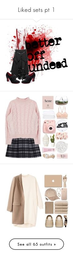 """""""Liked sets pt 1"""" by ohgodwhy ❤ liked on Polyvore featuring THIMISTER, John Fluevog, Thakoon Addition, Prada, Frette, American Eagle Outfitters, Fujifilm, ASOS, By Terry and philosophy"""