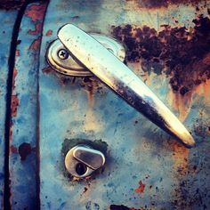 Rust and Blue. Pic: Robin Brown #old cars #rust #texture #blue