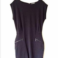 Michael Kors Gray Dress with Zipper Worn only twice. Beautiful dress. Size 10. Michael Kors Dresses