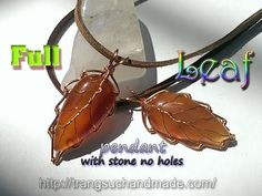 (3) Leaf pendant with Flat Teardrop stone without holes - full version ( slow ) 333 - YouTube