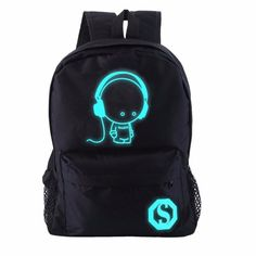 OUTAD Student Backpack For Boy&Girl Teenager From The Shoulder With Music Kid Nightlight Design Luminous Student School Bag Top Kylie Jenner Bikini, Men Accesories, Boys Backpacks, Music For Kids, Travel Backpack, Fashion Bags, Fashion Fashion, School Bags, Night Light