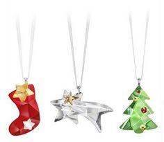 Swarovski 2012 Christmas Set (Stocking, Comet, Tree) - Pre-order
