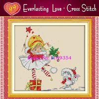 Новое поступление! Призраки рождество, 11CT печать на холст вышивка вечная любовь для вышивания комплект для шитья