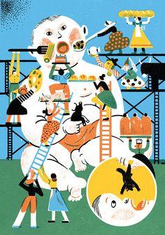 花瓣网-el on Behance People Illustration, Business Illustration, Graphic Design Illustration, Digital Illustration, Irene, Behance, You Draw, Illustrations And Posters, Design Reference
