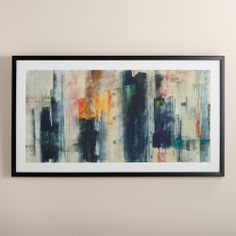 """""""Hypnotic I"""" by Jane Bellows   World Market - Great art piece above the couch.  Throw in some pillows with orange, green and beige accents… very cool."""