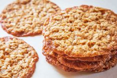 Crispy, lacy oatmeal cookies. So impressive on a cookie tray.