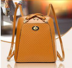 Women Girl double Shoulder Backpack School Bag Satchel Bookbag Fashion-Brown #guoyataotao #Backpack