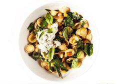 Orecchiette with Corn, Greens, and Ricotta Recipe - Bon Appétit