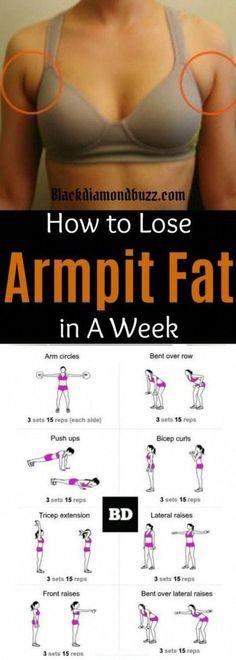 Arm Pit Fat Workout, Belly Fat Workout, Bra Fat Workout, Skinny Arms Workout, Lose Stomach Fat Workout, Hand Workout, Fast Fat Burning Workout, Fat Burning Diet, Tummy Workout