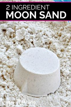 Are you looking for a fun sensory activity to keep your kids busy This DIY moon sand uses only 2 ingredients for hours of fun moonsand kidsactivities toddleractivities preschoolactivities sensoryplay naturalparenting Fun Crafts For Kids, Craft Activities For Kids, Diy For Kids, Diy Projects For Kids, Spring Break Projects For Kids, Easy Toddler Crafts 2 Year Olds, Moon Activities, Crafts For 2 Year Olds, Kids Activity Ideas