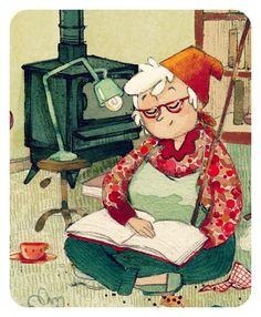Un descanso lector… entre la limpieza (ilustración de Anne Soline)