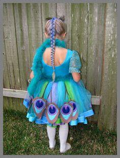 Peacock Costume Tutu Tutorial