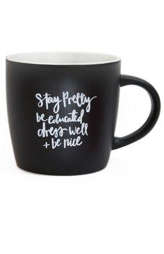Miss Poppy Design - Stay Pretty Mug - Black