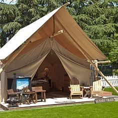 Rethink the pitched tent - Tent camping redefined - my kind of camping-but remove the TV ...please.
