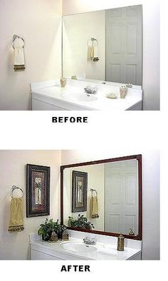 DYI Bathroom Mirror fixes...must do to guest bathroom