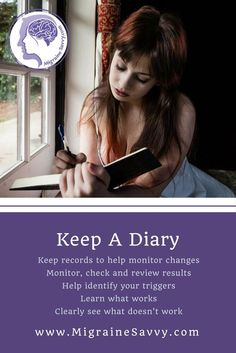 Here are some practical tips to keep a migraine diary. It will help you cope and find answers @migrainesavvy Migraine Triggers, Chronic Migraines, Migraine Relief, Home Remedy For Headache, Natural Remedies For Migraines, Migraine Home Remedies, Severe Headache, Tension Headache, Migraine Diary