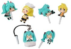 Character Vocal Series 01 Hatsune Miku 02 Kagamine Rin Len Character Vocal Series earphone jack accessories nonscale 35mm earphone jack compatible 8 pcs BOX japan import >>> Click on the image for additional details.